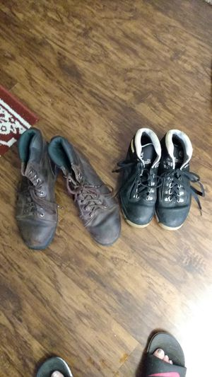 2 PRS of Work Boots, 1 is made by: Wolverine Sz.11 n 11.5 And the other or is made By: Timberland Sz. 8.-8.5 for Sale in Nashville, TN