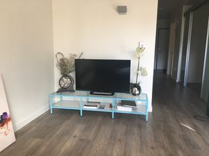 Tv stand - baby blue color for Sale in Seattle, WA