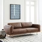 "2 West elm Dempsey Leather Sofa (84"") (76"") for Sale in Maywood, NJ"