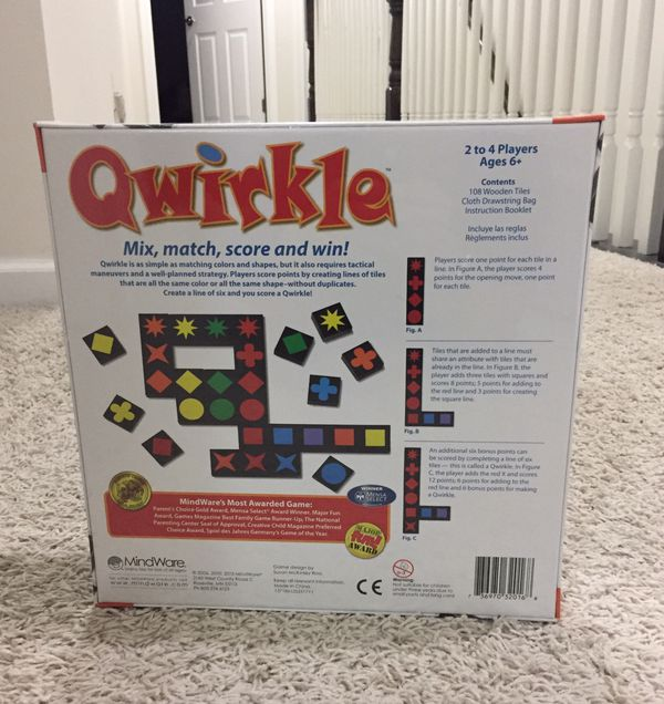 *New* Quirkle Board Game - Wood Tiles