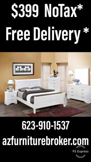 New Bedroom Set...queen sleigh bed frame,dresser,mirror,and nightstand..... for Sale in Surprise, AZ