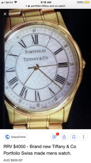 RRV $4050 Tiffany & Co Portfolio Swiss made mens watch for Sale in Grove City, OH