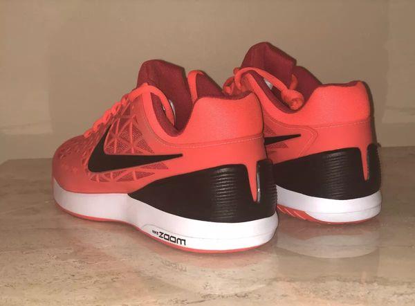 Nike Men s Zoom Cage 2 Tennis Shoes 705247-806 (Crimson Black Red ... d5576c515