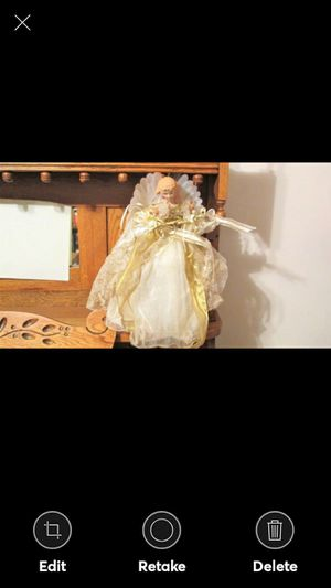 """VINTAGE CHRISTMAS ANGEL TREE TOPPER 15"""" TALL for Sale in Lynchburg, VA"""