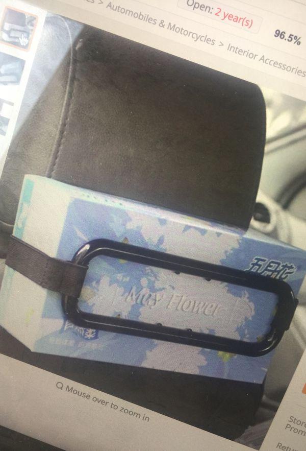 Paper napkin back seat holder