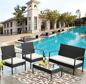 4-piece Wicker/Rattan Patio/Outdoor/Yard/Outside Furniture set - NEW in box for Sale in Boca Raton, FL