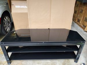 Glass and metal TV stand for Sale in Puyallup, WA