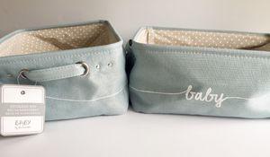 NWT! Lot- 2 Baby by Beriwinkle Nursery Kids Soft Storage Bins, Blankets, Diapers for Sale in Boca Raton, FL