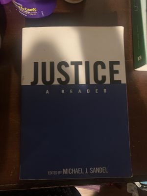 UCR book justice a Reader for Sale in Perris, CA