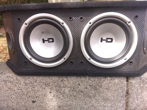 "6"" subs & tweets in box for Sale in Sandy, OR"
