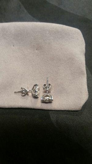 14k white gold 1 karat diamond earrings for Sale in San Antonio, TX
