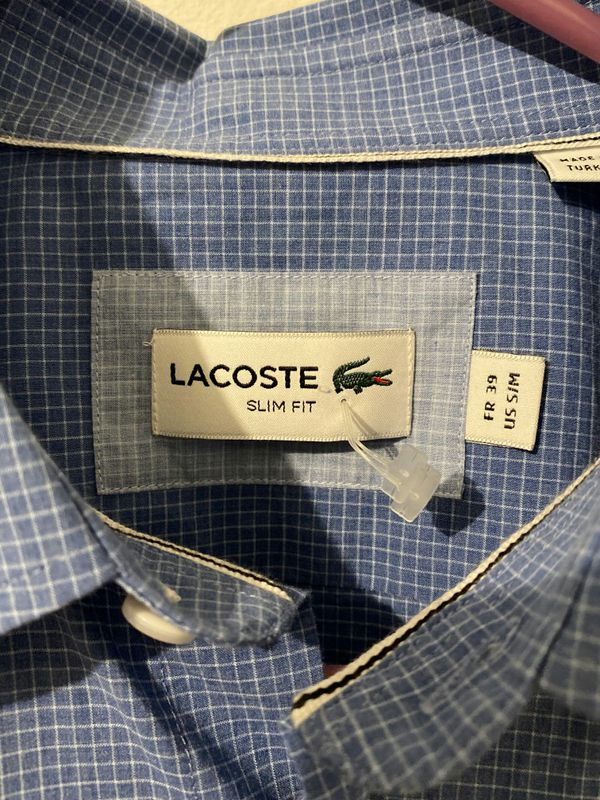 Lacoste Dressing shirt Size S/M new