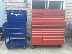 Snap On Tool Box And Tool Cart. for Sale in Sterling Heights, MI
