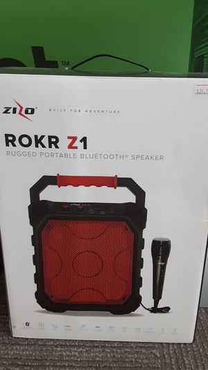 ZIZO ROKR Z1 RUGGED PORTABLE BLUETOOTH SPEAKER!!! for Sale in San Angelo, TX