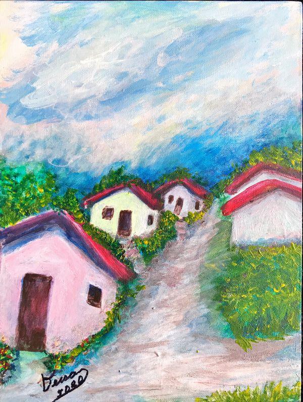 "Acrylic paintings on 9x12"" canvas"