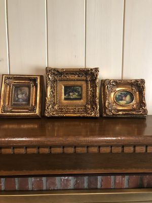 Three small oil paintings for Sale in Baton Rouge, LA