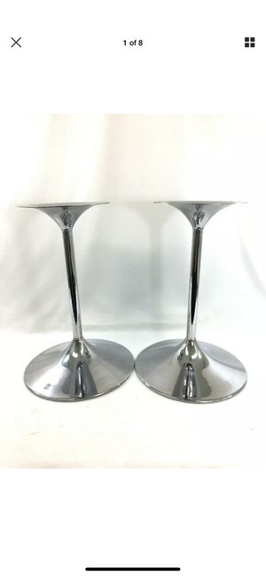 Bose 901 Chrome Speaker Tulip Stands 3 Piece Design Pair #6073 for Sale in Costa Mesa, CA