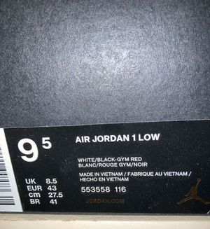 Air Jordan 1 low black toe for Sale in Aurora, CO