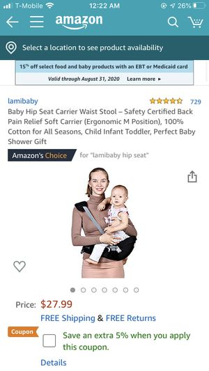 Baby hip carrier for Sale in Las Vegas, NV