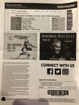 LIONEL RICHIE concert tickets for Sale in Orlando, FL