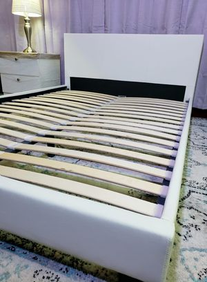 FULL upholstered platform bed frame come NEW IN BOX, mattress sold separately for Sale in West Palm Beach, FL