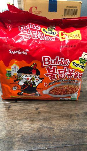 buldak topokki hot chicken flavor ramen (5packsx8pcs)=$15 for Sale in Brea, CA