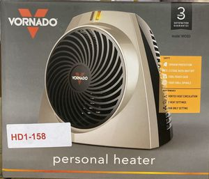 Vornado 1559 BTU 750-Watt Portable Electric Fan Heater for Sale in Turlock, CA