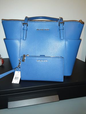 Vintage Blue Michael Kors Tote and Wristlet for Sale in Portland, OR