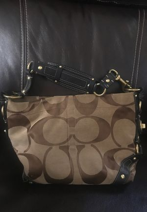 Tan Coach Bag on the heavy side for Sale in Riverside, CA