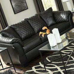 🚛IN STOCK FAST DELIVERY Betrillo Black Living Room Set (sofa Loveseat Price) for Sale in Philadelphia,  PA