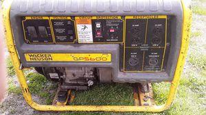 Wacker neuson generator 5600 Watts run great for Sale in Kansas City, MO