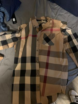 Burberry shirt . for Sale in Chicago, IL