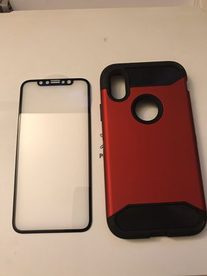 Iphone-X 3D screen protector and case for Sale in Milpitas, CA