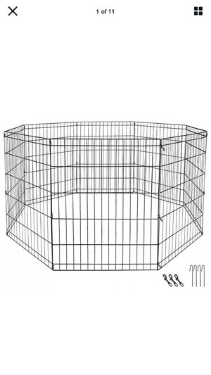 """42"""" Dog Playpen Crate 8 Panel Fence Pet Play Pen Exercise Puppy Kennel Cage for Sale in Kent, WA"""