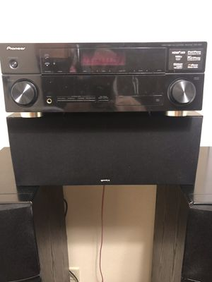 Pioneer receiver with Klipsch center, tower, and sub speakers for Sale in Tampa, FL