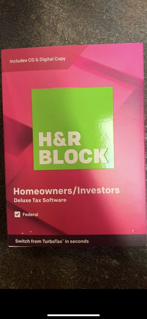 H&R Block Deluxe 2019 Tax Software, Traditional Disc, For PC/Mac for Sale in Tacoma, WA