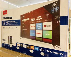 """75"""" TcL roku smart 4K led uhd hdr tv for Sale in Chula Vista, CA"""