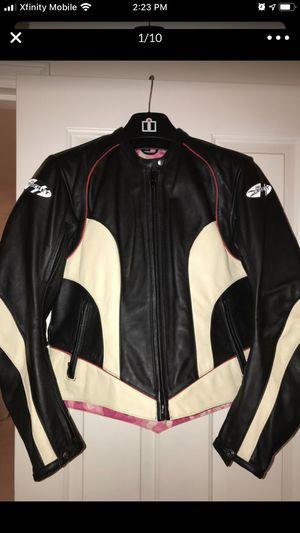 Joe Rocket leather motorcycle jacket - ladies large for Sale in Brier, WA