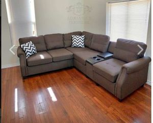 New Chocolate Sectional Sofa for Sale in Austin, TX