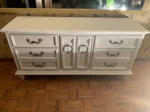 Antique dresser white with original hardware very nice. for Sale in Atlanta, GA