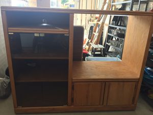 Wood storage cabinet / entertainment center for Sale in East Wenatchee, WA