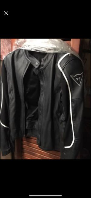 Dianese ladies black leather motorcycle jacket for Sale in North Reading, MA