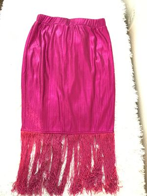 Metallic Pink Fringe Skirt for Sale in Concord, CA