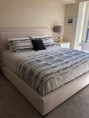 King mattress with bed frame for Sale in San Francisco, CA