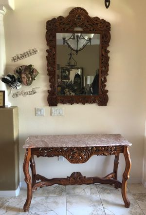 Entryway table and Matching Mirror for Sale in Land O Lakes, FL