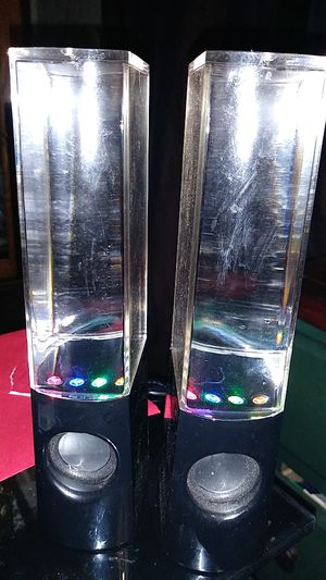 Water fountain with colored lights speakers for Sale in Vancouver, WA