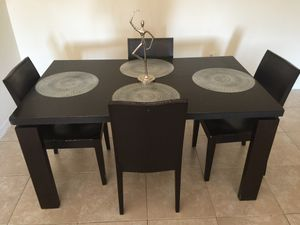 Dining table solid black wood for Sale in Coconut Creek, FL