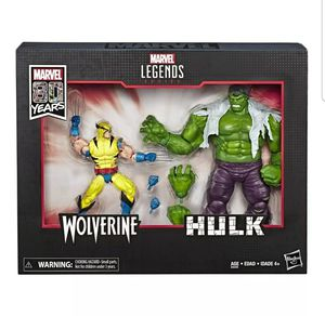 Marvel Legends 80th Anniversary Wolverine and Hulk 6-Inch Action Figures for Sale in Los Angeles, CA
