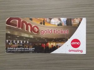 AMC gold tickets (2) for Sale in Buena Park, CA