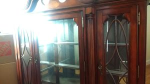 Display cabinet, china cabinet. Glass in doors and shelves for Sale in San Carlos, CA